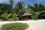 Hütte vom Strand aus