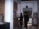Im Eingang des Bunkers