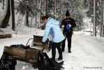 Pioniertafel: Fertigmachen der Ausrüstung bei Schneefall.